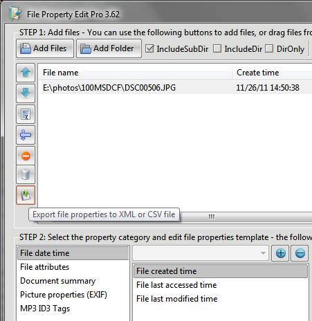 how to change properties of mp3 file