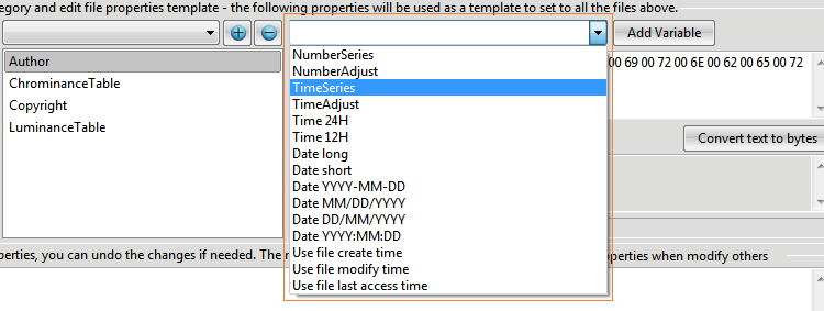 File Property Edit - Online Help