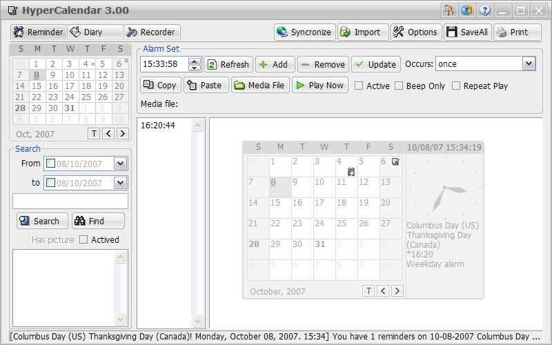 HyperCalendar Pro full screenshot